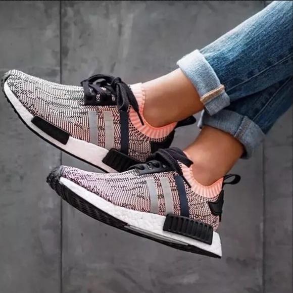 Le Primeknit Adidas Nmd Rosa Salmone Primeknit Le Glitch 8 Poshmark R1 0e5cf2